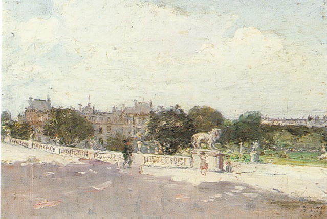 ENRIQUE ATALAYA (SPANISH 1851-1914) VIEWS OF THE LUXEMBOURG GARDENS, PARIS