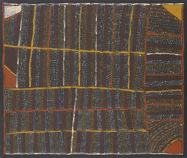 KUTUWALUMI PURAWARRUMPATU (KITTY KANTILLA) , CIRCA 1928-2003 PARLINI JILAMARA Ochres on linen