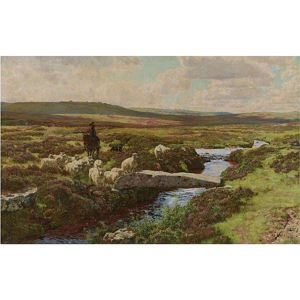 - Herbert Arnould Olivier , 1861-1952 wallerbrook bridge, dartmoor oil on canvas