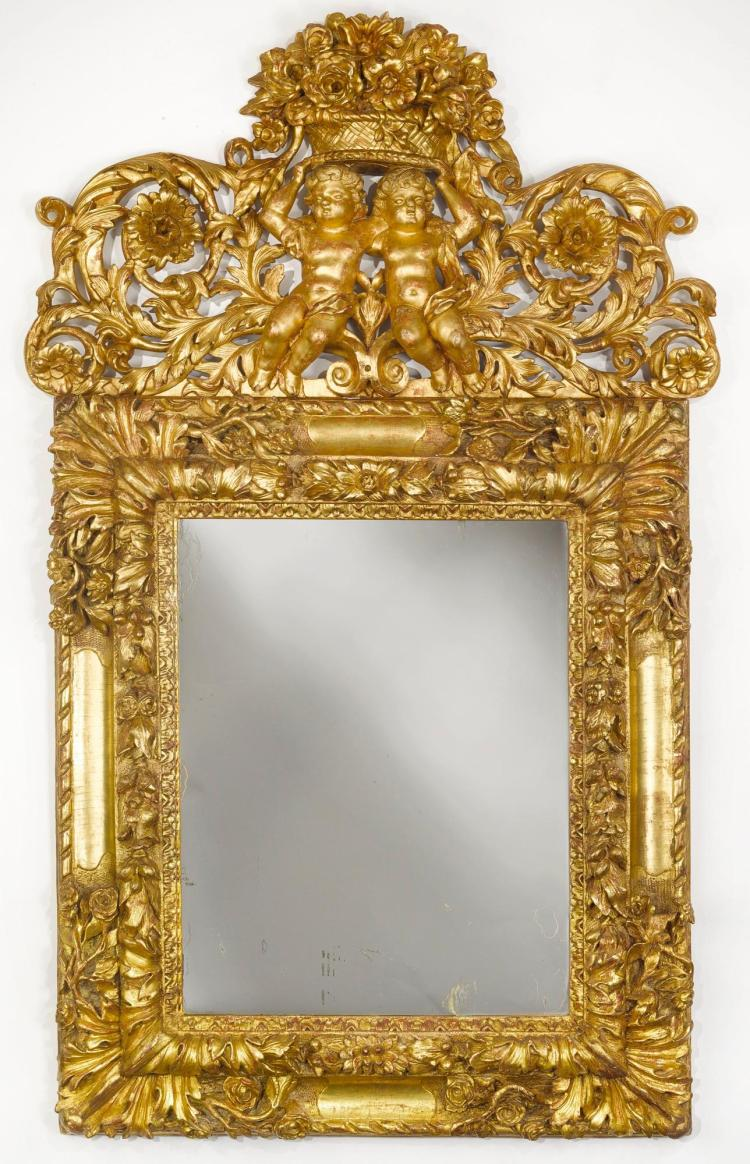 A louis xiv giltwood mirror late 17th century for 17th century mirrors