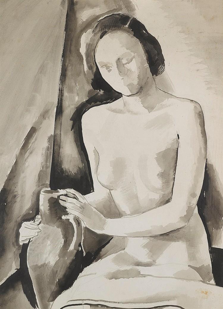 KÁROLY PATKÓ   Seated Nude