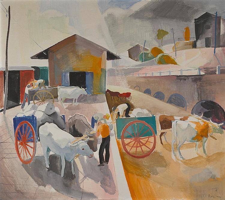 KÁROLY PATKÓ | Loading Ox Carts