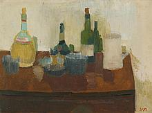 VICTOR PASMORE, R.A. | Still Life with Wine Bottles