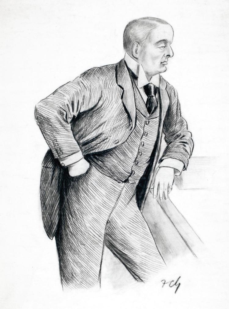 GOULD, 'LORD ROSEBERY AT THE DESPATCH BOX', PENCIL, [N.D.]