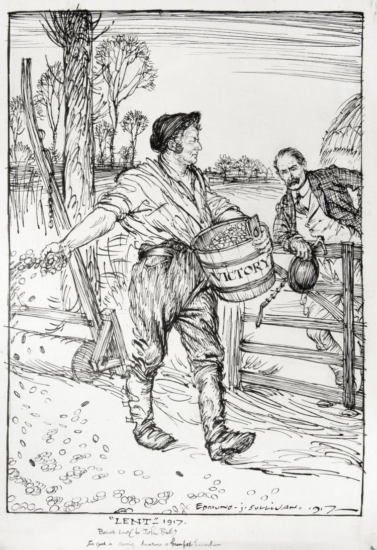 SULLIVAN, 'LENT', INK, 1917