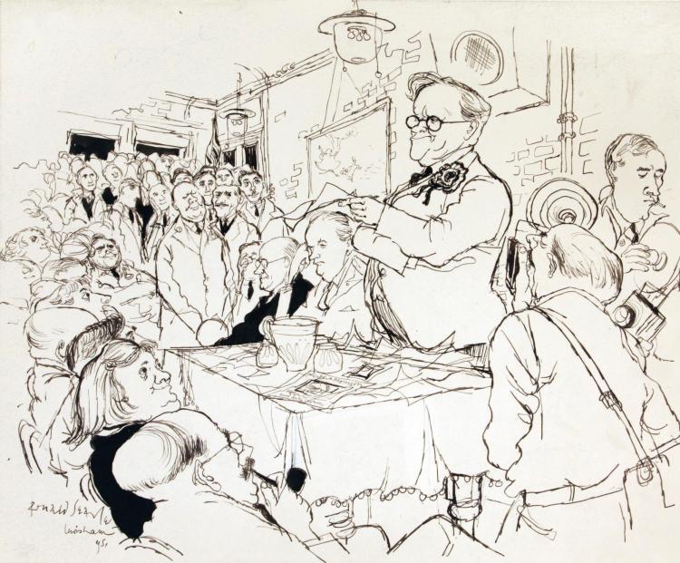 SEARLE, 'ON THE ROAD: HERBERT MORRISON ELECTIONEERING', INK, 1951