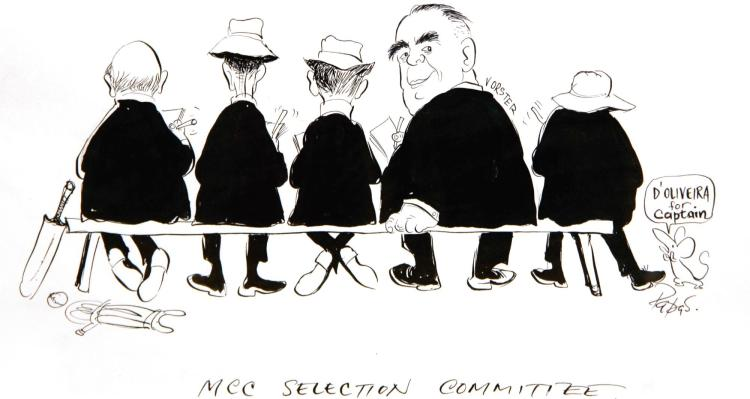 PAPAS, 'MCC SELECTION COMMITTEE', INK, 1967