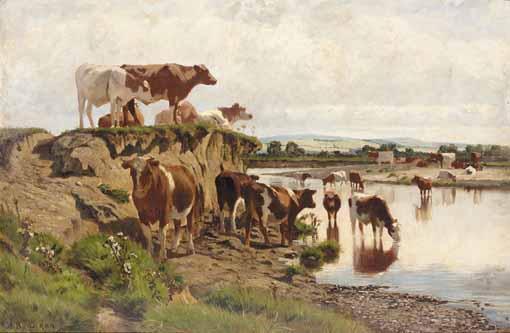 AUGUSTUS NICHOLAS BURKE, R.H.A., IRISH C.1838-1891