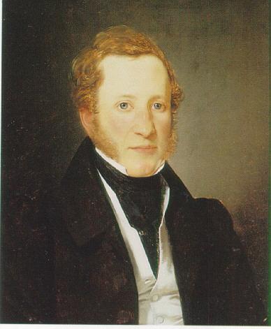 WILHELM BENDZ (DANISH 1804-32) PORTRAIT OF DOCTOR ESPENSEN