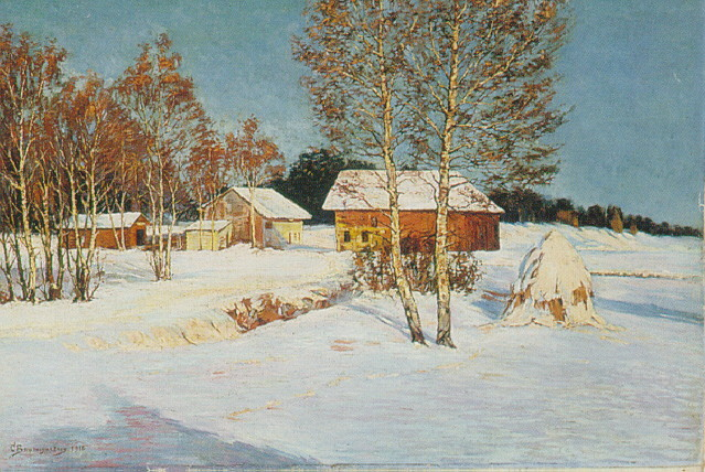 CHRISTIAN BAUMGARTNER (SWISS 1855-1942) A WINTER LANDSCAPE
