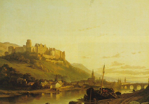 FRANCOIS ANTOINE BOSSUET (BELGIAN 1798-1889) A VIEW OF HEIDELBERG AND THE RIVER NECKAR