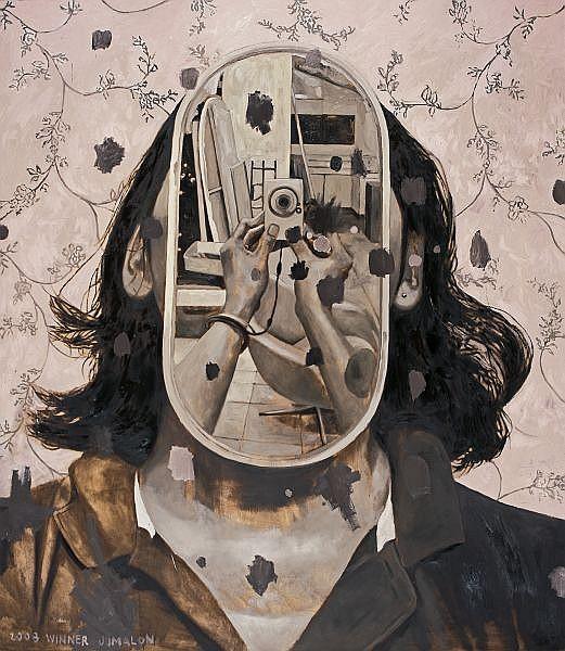 Winner Jumalon b. 1984 , Ricochet oil on canvas