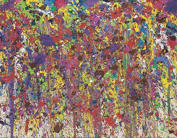 Walasse Ting b. 1929 , My Hundred Hundreds Girlfriends acrylic on canvas