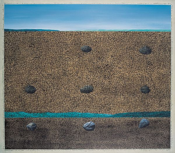 Jumaldi Alfi b. 1973 , Landschap Serie #01 acrylic on canvas