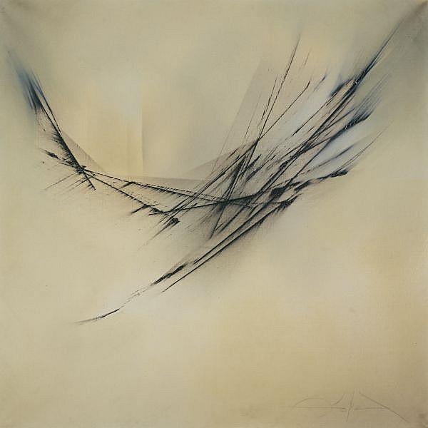 Fernando Zobel 1924-1984 , Movimiento Sobre Claro (Movement On Clarity) oil on canvas