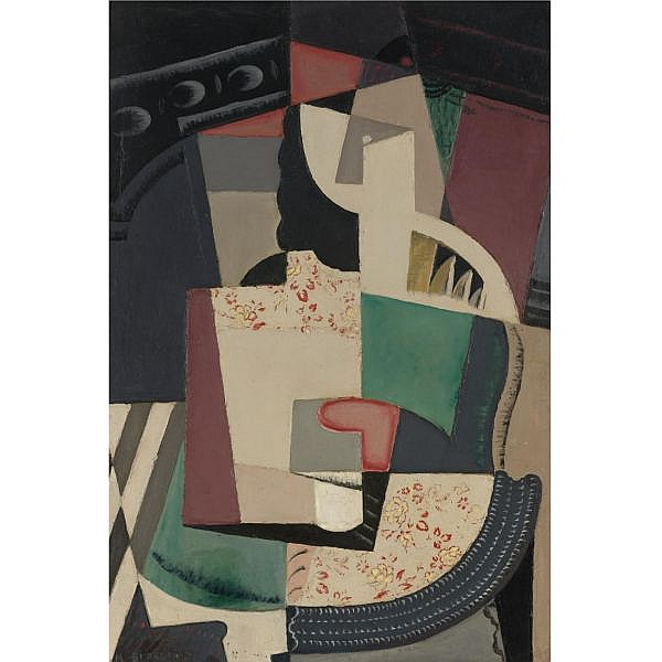 María Blanchard , 1881-1932 Femme assise Oil on canvas