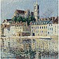 Gustave Loiseau , 1865-1935 La Cathédrale à auxerre Oil on canvas