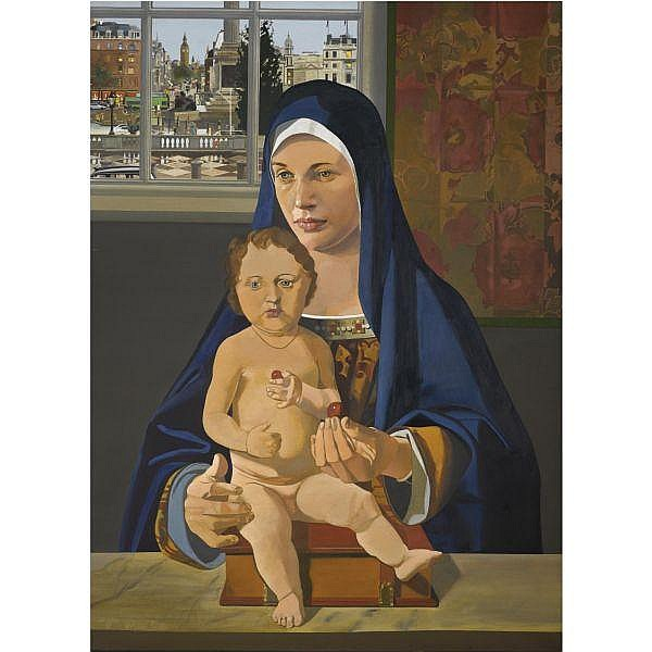 - Sir Peter Blake, R.A. , b. 1932 the national gallery madonna oil on canvas