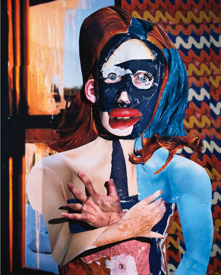 DANIEL GORDON | Portrait in Orange and Blue