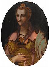 WORKSHOP OF FRANCESCO MORANDINI, CALLED IL POPPI   Portrait of a richly dressed lady