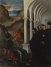 FERRARESE SCHOOL, LATE 16TH CENTURY   The Miracle of Saint Benedict andthe Visigoth, Zalla