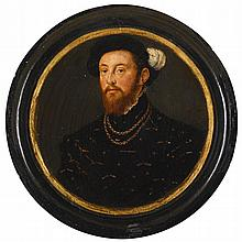 FOLLOWER OF HANS HOLBEIN THE YOUNGER   Portrait of a gentleman