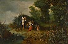 STUDIO OF JAN BRUEGHEL THE YOUNGER   Amphitrite and Ceres: An allegory of water and earth