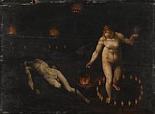 FLEMISH SCHOOL, 17TH CENTURY   A witchcraft scene