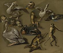 CIRCLE OF PEETER BOEL   Studies of monkeys and foul