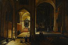 PIETER NEEFS THE ELDER   The interior of a gothic church at night