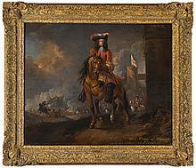 JAN WYCK   Equestrian portrait of William III (1650-1702), whenPrince of Orange, a battle beyond
