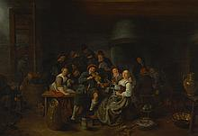 JAN MIENSE MOLENAER   Merry company in an inn with a violinist