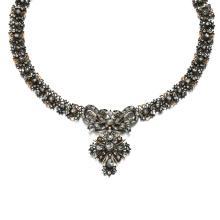DIAMOND NECKLACE, LATE 18TH CENTURY COMPOSITE