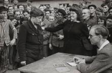 HENRI CARTIER-BRESSON | Gestapo Informer Recognized by a Woman She Had Denounced, Deportation Camp, Dessau