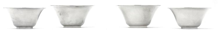 TWOMATCHING PAIRS OF AMERICAN SILVER ART DECO BOWLS, TIFFANY & CO., NEW YORK, CIRCA 1930-40  