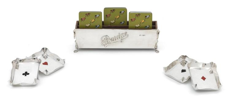A GROUP OF GAMING ACCESSORIES, TIFFANY, HERMÈS, AND OTHERS, LATE 19TH-20TH CENTURY |
