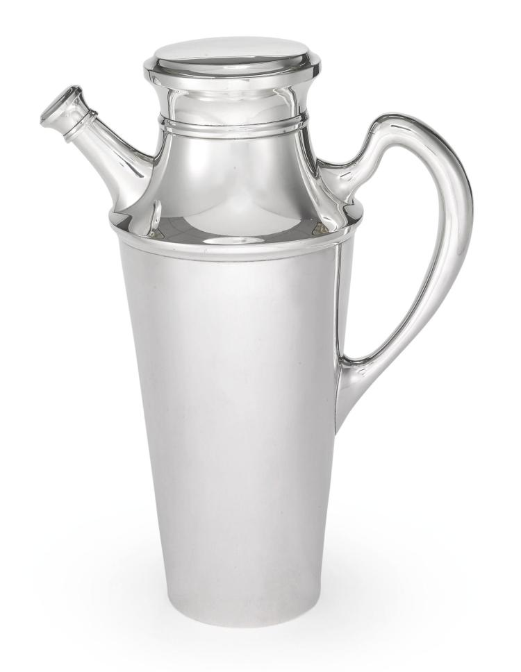 AN AMERICAN SILVER COCKTAIL SHAKER, S. KIRK & SON INC., BALTIMORE, 1925-32 |