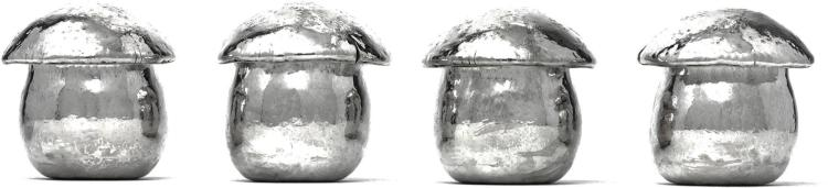 A SET OF FOUR ITALIAN SILVER MUSHROOMS CANISTERS, MICHELANGELO CLEMENTE FOR BUCCELLATI, 20TH CENTURY |