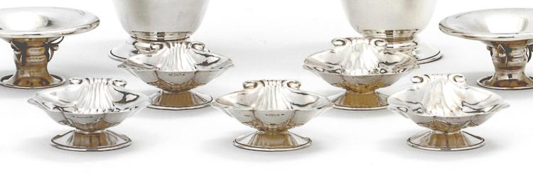 A SET OF FIVE CANADIAN SILVER SHELLS, CARL POUL PETERSON, MONTREAL, CIRCA 1950 |