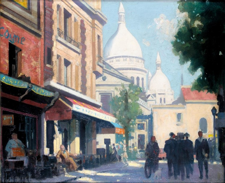 GEORGE COLLIE 1904-1975 MONTMARTRE AND THE SACRE COEUR, PARIS