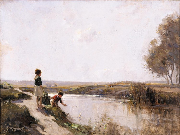 f - FRANK MCKELVEY, R.H.A., R.U.A. 1895-1974 ON THE RIVER BANN, CO. ANTRIM
