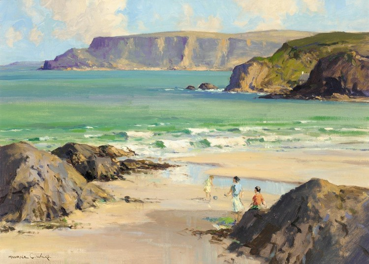 MAURICE WILKS, A.R.H.A., R.U.A. 1911-1983 'GARRON POINT' FROM CUSHENDUN, CO.ANTRIM