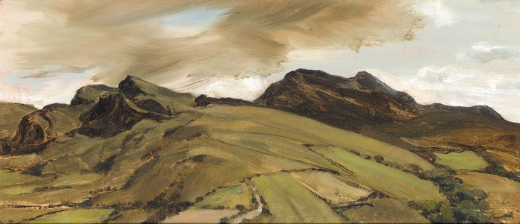 DEREK HILL 1916-2000 TOWARDS LOUGH SALT, DONEGAL