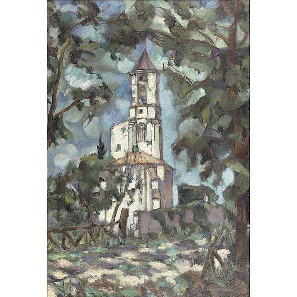 Vladimir Davidovich Baranov-Rossiné, 1888-1944 , The Church oil on canvas