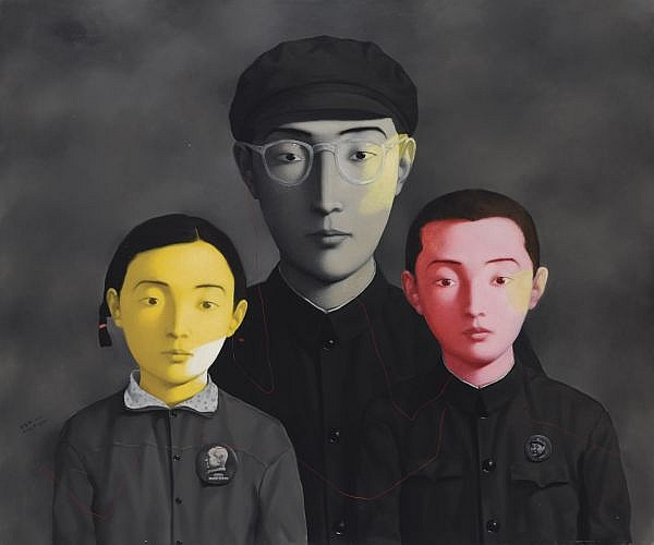 Zhang Xiaogang B. 1958 , Bloodline: Big Family No.1 oil on canvas