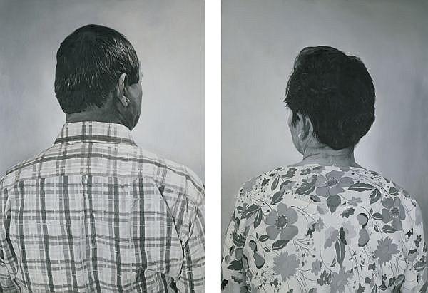 Nona Garcia b. 1978 , Dialogue oil on canvas