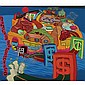 Peter Saul , b.1934 High Class San Francisco   oil on canvas     , Peter Saul, Click for value