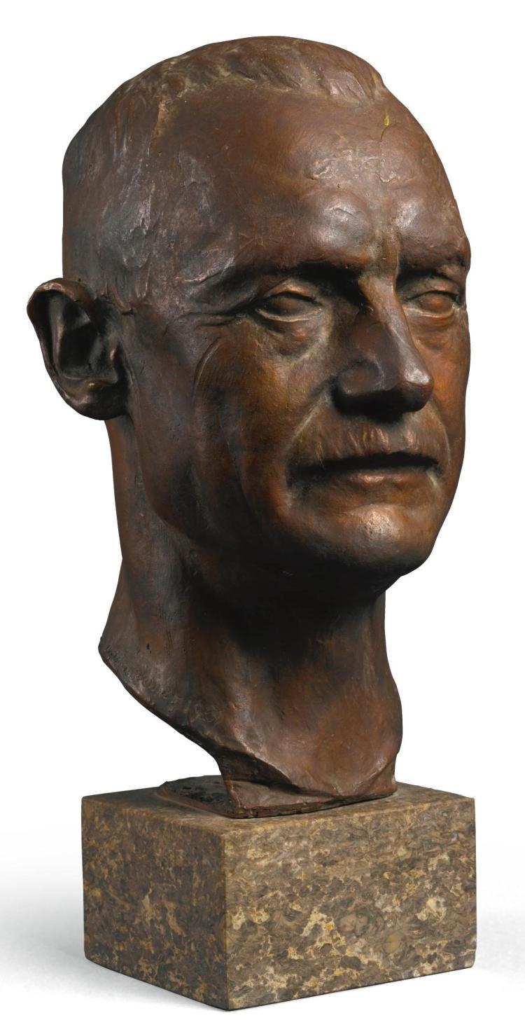 THEODOR GEORGII | Bust of Rupprecht, Crown Prince of Bavaria