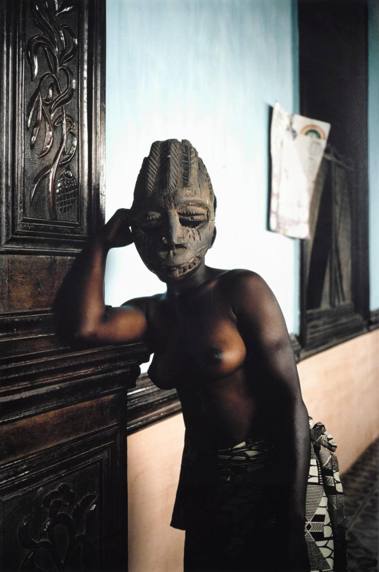 LEONCE RAPHAEL AGBODJELOU | Untitled (Demoiselles de Port-Novo Series)
