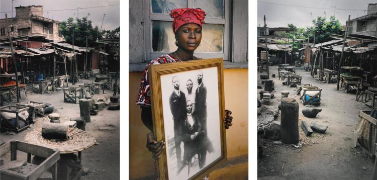 LEONCE RAPHAEL AGBODJELOU | Untitled Triptych (Code Noir)